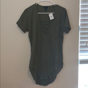 Rue+ ribbed bodysuit size 3x NEW WITH TAGS